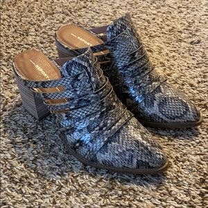 Never worn Report Snake Skin booties
